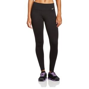 Nike Black Dri - Fit Full Length Leggings